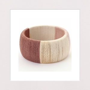 Jewelry - 🔴 3 for $25 | Fabric Cord Wrapped Wooden Bracelet